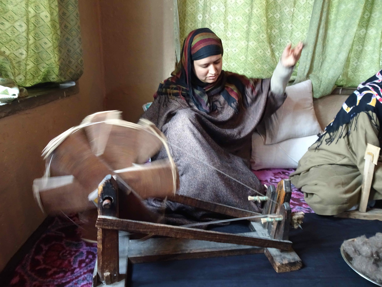 Pashmina spinning